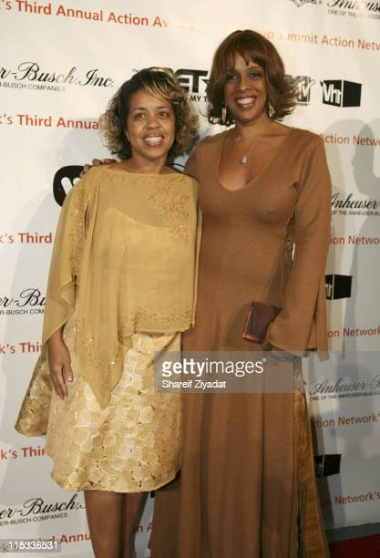 Gayle King and Guest during HipHop Summit Presents 3rd Annual Action Awards Arrivals at Chelsea Piers in New York City United States