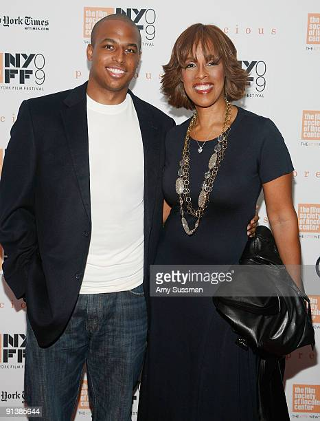 Gayle King and her son Will Bumpus attend the 2009 New York Film Festival's screening of Precious at Alice Tully Hall on October 3 2009 in New York...