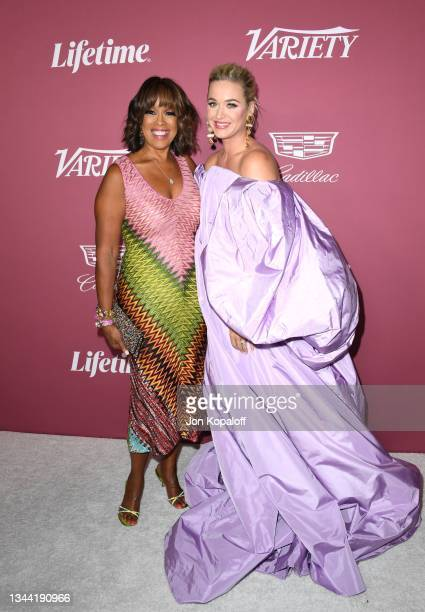 Gayle King and honoree Katy Perry attend Variety's Power Of Women at Wallis Annenberg Center for the Performing Arts on September 30, 2021 in Beverly...