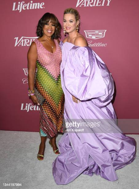 Gayle King and honoree Katy Perry attend Variety's Power Of Women: Los Angeles Event on September 30, 2021 in Beverly Hills, California.