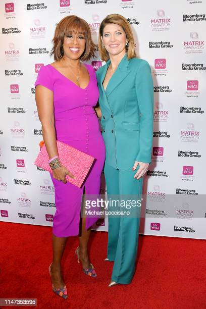 Gayle King and honoree Norah O'Donnell attend the 2019 Matrix Awards at the Sheraton New York Times Square on May 06 2019 in New York City
