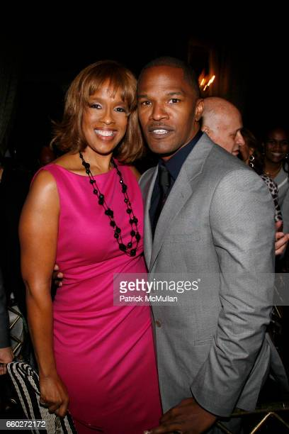 Gayle King and Jamie Foxx attend UJA-FEDERATION OF NEW YORK honor BARRY WEISS with The Music Visionary of the Year Award at The Pierre on June 18,...