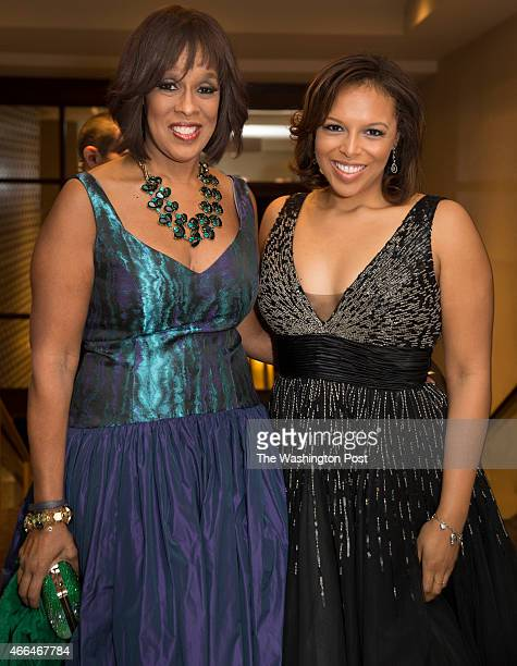 Gayle King and Kirby Bumpus arrive at the Gridiron Club Dinner at the Renaissance Hotel in Washington DC on March 14 2015 The annual dinner is a...