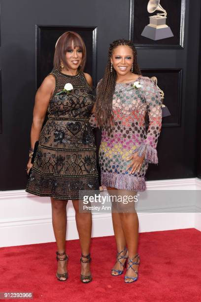 Gayle King and Kirby Bumpus attend the 60th Annual GRAMMY Awards Arrivals at Madison Square Garden on January 28 2018 in New York City