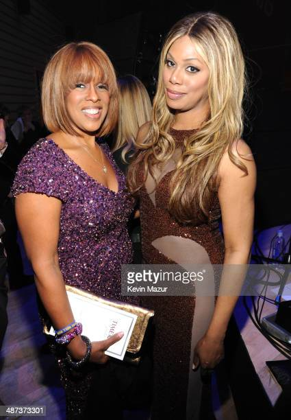 Gayle King and Laverne Cox attend the TIME 100 Gala TIME's 100 most influential people in the world at Jazz at Lincoln Center on April 29 2014 in New...