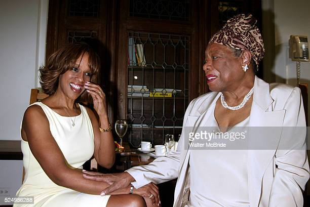 Gayle King and Maya Angelou Attending The Abyssinian Development Corporation's Tenth Annual Renaissance Day of Commitment Leadership Breakfast at...