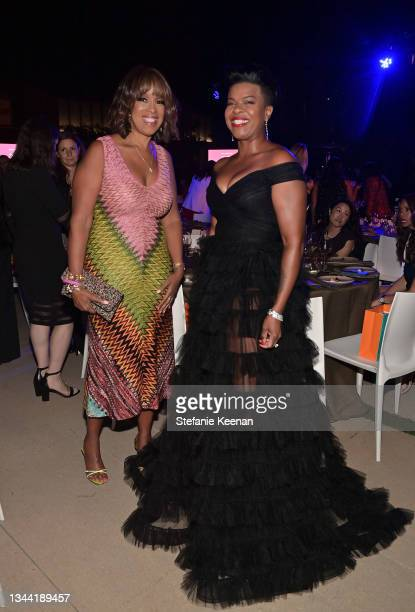 Gayle King and Mia Neal attend Variety's Power of Women Presented by Lifetime at Wallis Annenberg Center for the Performing Arts on September 30,...