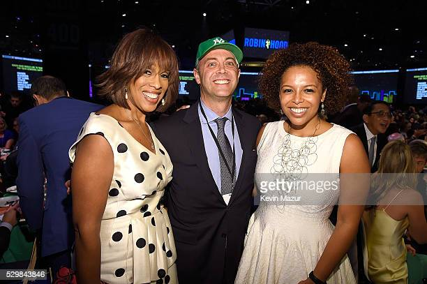 Gayle King and Robin Hood executive director David Saltzman attend The Robin Hood Foundation's 2016 Benefit at Jacob Javitz Center on May 9 2016 in...