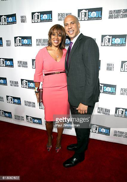 Gayle King and Senator Cory Booker attends the Jon Bon Jovi Soul Foundation 10 Year Anniversary at the Garage on October 6 2016 in New York City