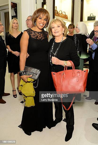 Gayle King and tv personality Barbara Walters attend Ralph Lauren Presents Exclusive Screening Of Hitchcock's To Catch A Thief Celebrating The...