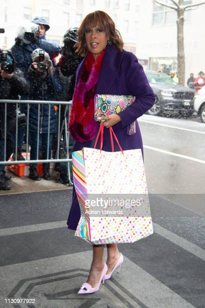 Gayle King arrives at Meghan Markle's baby shower on February 20 2019 in New York City