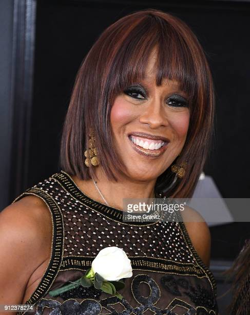 Gayle King arrives at the 60th Annual GRAMMY Awards at Madison Square Garden on January 28 2018 in New York City