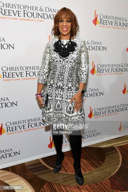 Gayle King arrives at The Christopher Dana Reeve Foundation 'Magical Evening' Gala on November 15 2018 in New York City