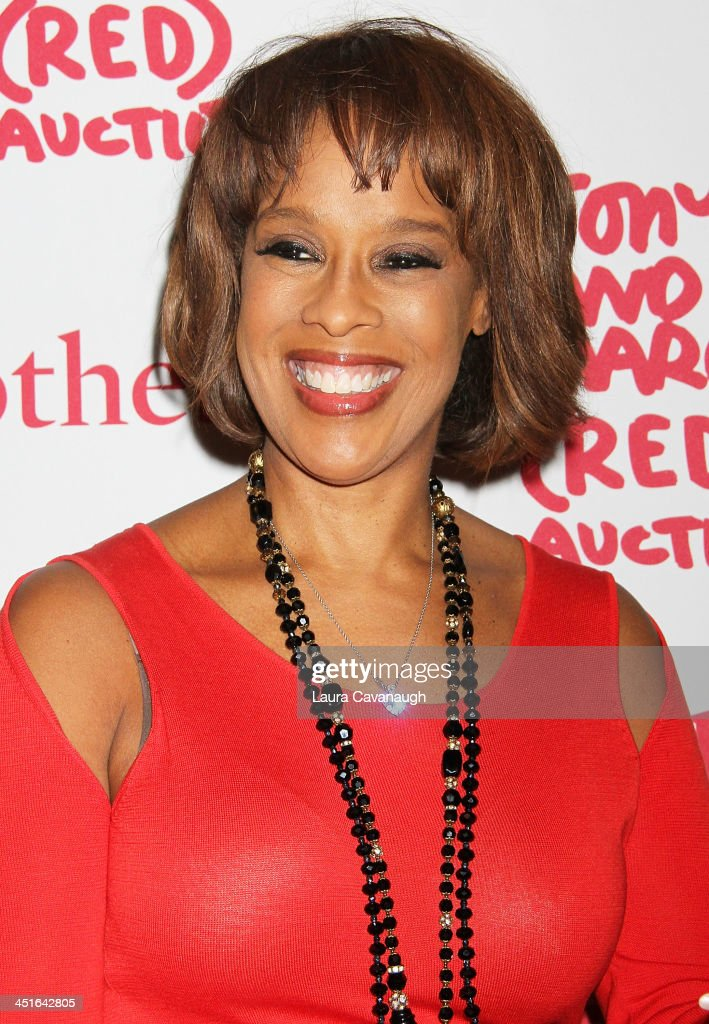 Gayle King attends 2013 (RED) Auction Celebrating Masterworks Of Design and Innovation on November 23, 2013 in New York City.