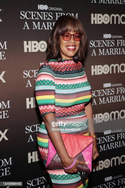 """Gayle King attends a special screening of """"Scenes From A Marriage"""" at the Museum of Modern Art on October 10, 2021 in New York City."""