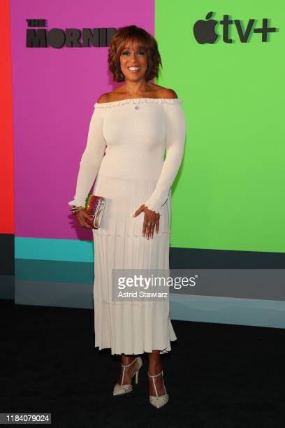 Gayle King attends Apple TV's The Morning Show World Premiere at David Geffen Hall on October 28 2019 in New York City