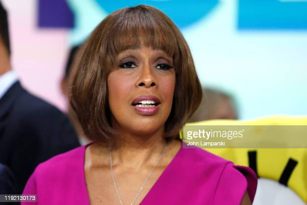 Gayle King attends as ViacomCBS Inc rings the opening bell at NASDAQ on December 05 2019 in New York City