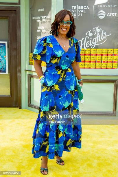 """Gayle King attends """"In The Heights"""" 2021 Tribeca Festival opening night premiere at United Palace Theater on June 09, 2021 in New York City."""