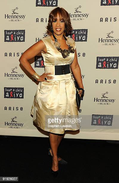 Gayle King attends Keep A Child Alive�s 6th Annual Black Ball at Hammerstein Ballroom on October 15 2009 in New York City