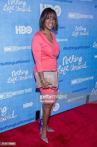 Gayle King attends 'Nothing Left Unsaid' Premiere at Time Warner Center on April 4 2016 in New York City