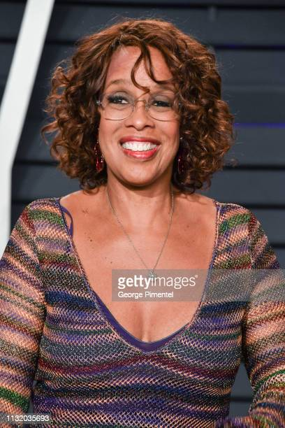 Gayle King attends the 2019 Vanity Fair Oscar Party hosted by Radhika Jones at Wallis Annenberg Center for the Performing Arts on February 24 2019 in...
