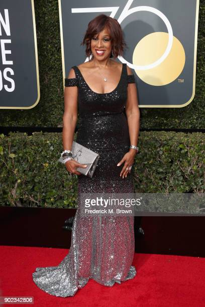 Gayle King attends The 75th Annual Golden Globe Awards at The Beverly Hilton Hotel on January 7 2018 in Beverly Hills California