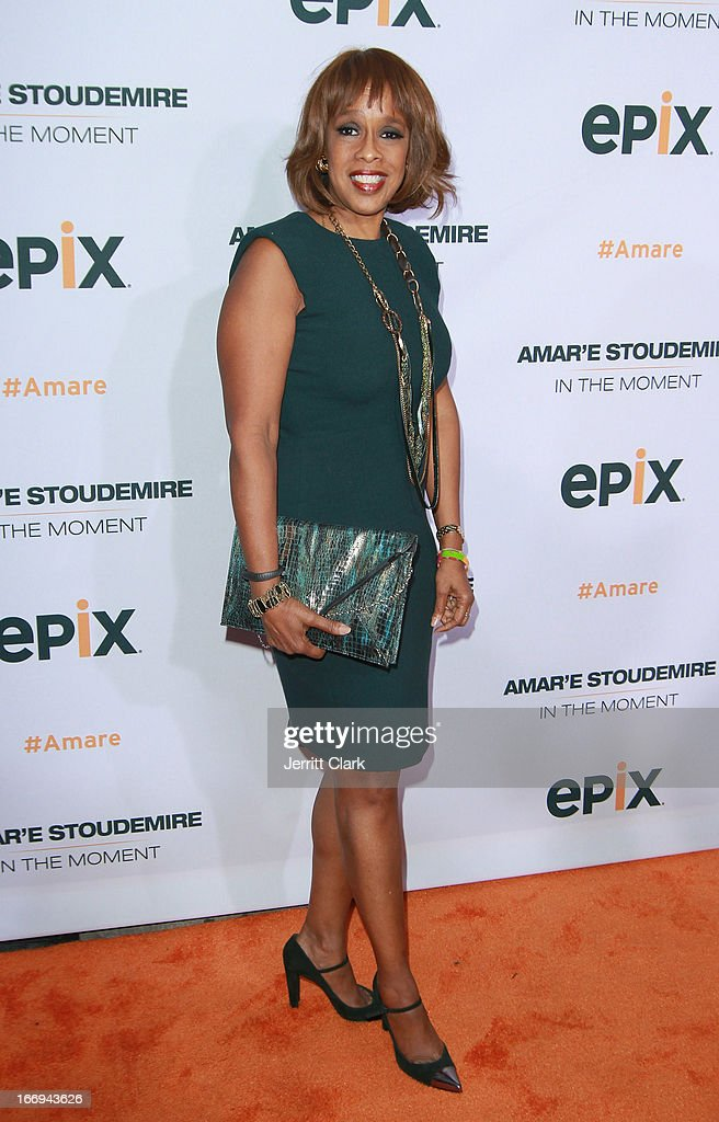 Gayle King attends the 'Amar'e Stoudemire: In The Moment' New York Premiere at Marquee on April 18, 2013 in New York City.