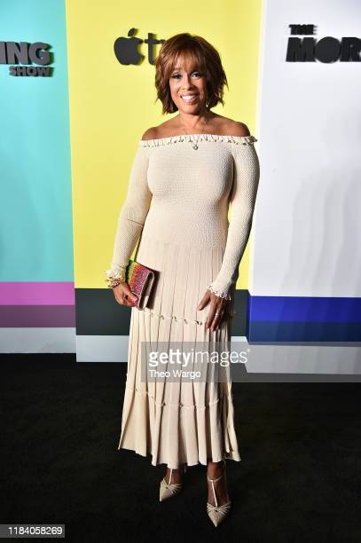 Gayle King attends the Apple TV's The Morning Show World Premiere at David Geffen Hall on October 28 2019 in New York City