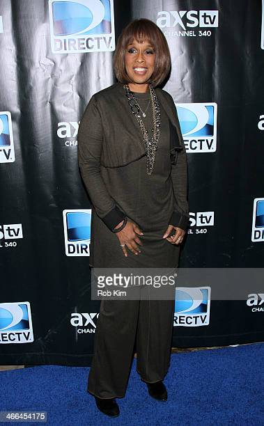 Gayle King attends the DirecTV Super Saturday Night at Pier 40 on February 1 2014 in New York City