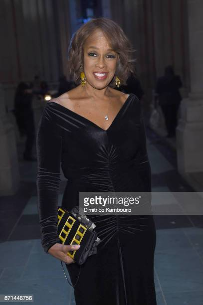 Gayle King attends the Elton John AIDS Foundation 25th Year And Honors Founder Sir Elton John During New York Fall Gala at Cathedral of St John the...