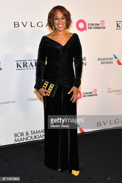 Gayle King attends the Elton John AIDS Foundation's Annual Fall Gala with Cocktails By Clase Azul Tequila at Cathedral of St John the Divine on...
