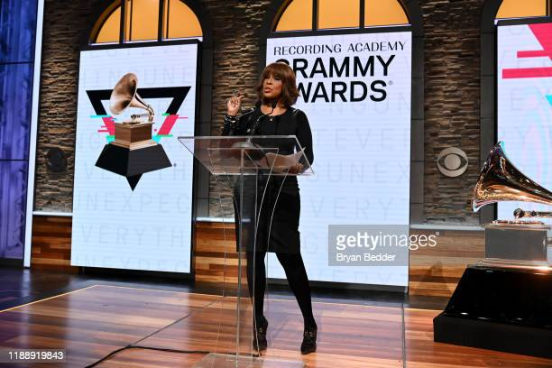 Gayle King attends the GRAMMY Nominations Press Conference at CBS Studios on November 20 2019 in New York City