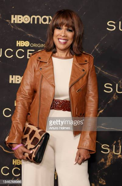 """Gayle King attends the HBO's """"Succession"""" Season 3 Premiere at American Museum of Natural History on October 12, 2021 in New York City."""