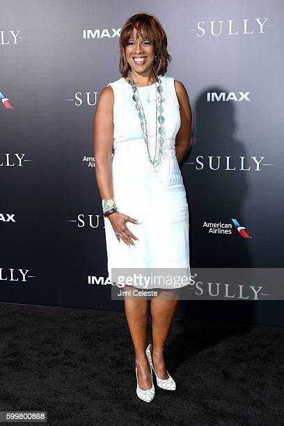 """Gayle King attends The New York Premiere of Warner Bros. Pictures' and Village Roadshow Pictures' """"Sully"""" at Alice Tully Hall at Lincoln Center on..."""