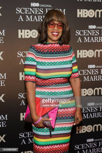 """Gayle King attends the """"Scenes From A Marriage"""" Special Screening on October 10, 2021 in New York City."""