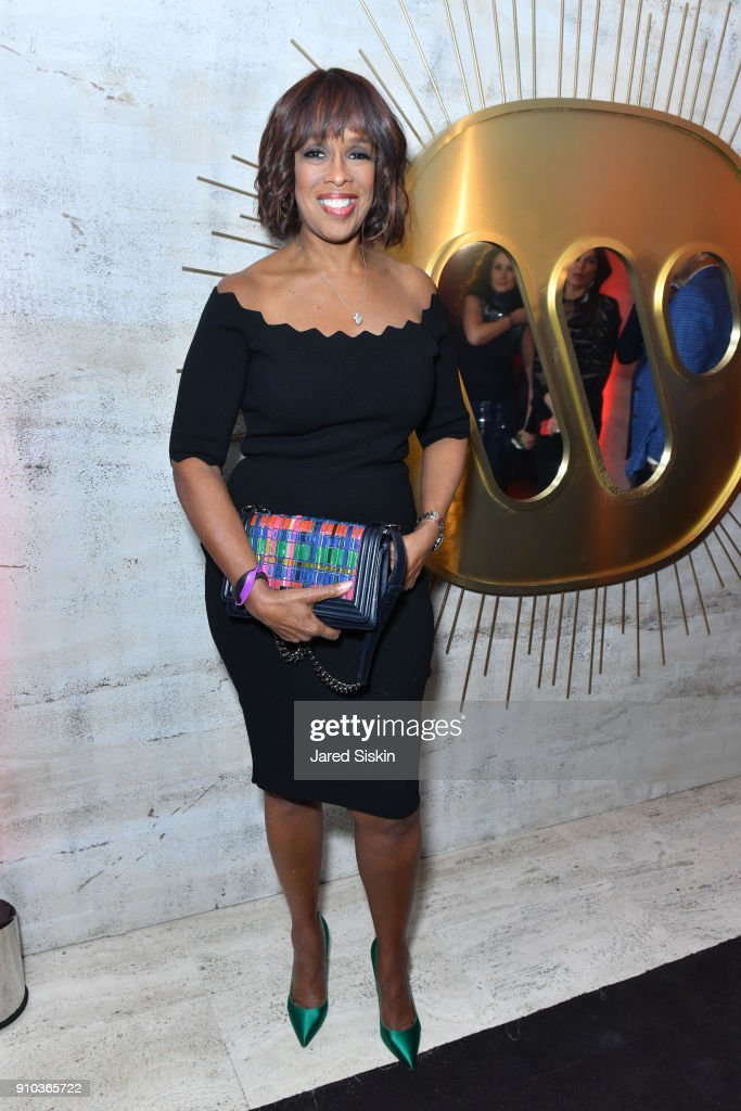 Gayle King attends the Warner Music Group Pre-Grammy Party in association with V Magazine on January 25, 2018 in New York City.