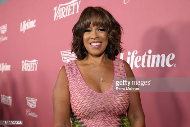 Gayle King attends Variety's Power of Women Presented by Lifetime at Wallis Annenberg Center for the Performing Arts on September 30, 2021 in Beverly...