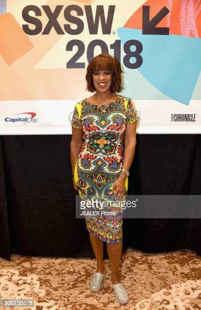 Gayle King attends Whitney Wolfe Herd in Conversation with Gayle King during SXSW at Austin Convention Center on March 10 2018 in Austin Texas