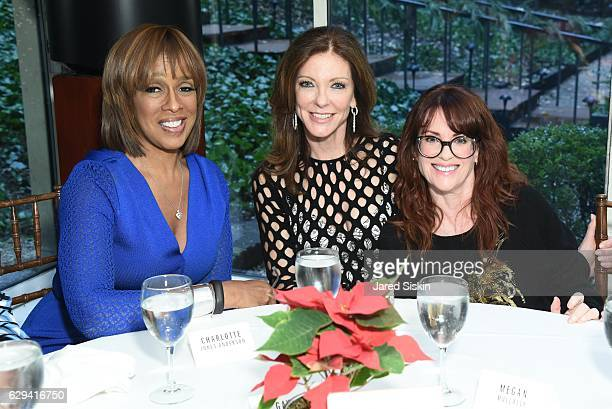 Gayle King Charlotte Jones Anderson and Megan Mullally attend Hearst Chief Content Officer Joanna Coles Hosts the Hearst 100 Luncheon at Michael's on...