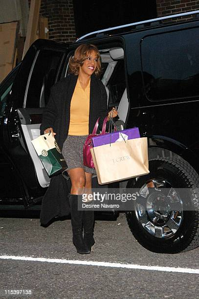 Gayle King during Oprah Winfrey Visits the 'The Late Show with David Letterman' December 1 2005 at Ed Sullivan Theater in New York City New York...