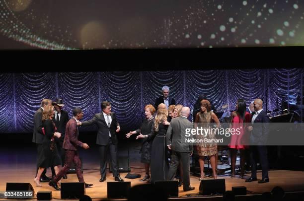 Gayle King Jon Batiste Stephen Colbert Julie Andrews Carol Burnett Chris Jackson Patina Miller and Charlie Rose attend Lincoln Center's American...