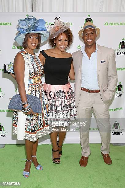 Gayle King Kirby Bumpus and William Bumpus Jr attend the Delta Dental Celebrity Green Room during the 142nd Kentucky Derby at Churchill Downs on May...