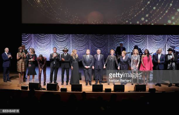 Gayle King Norah O'Donnell Jon Batiste Stephen Colbert Tim McGraw Faith Hill James Corden Leslie Moonves Carol Burnett Julie Andrews Patina Miller...