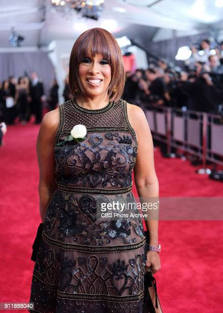 Gayle King on the red carpet at THE 60TH ANNUAL GRAMMY AWARDS broadcast live on both coasts from New York City's Madison Square Garden on Sunday Jan...
