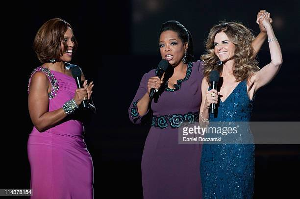 Gayle King, Oprah and Maria Shriver attend Surprise Oprah! A Farewell Spectacular at the United Center on May 17, 2011 in Chicago, Illinois.