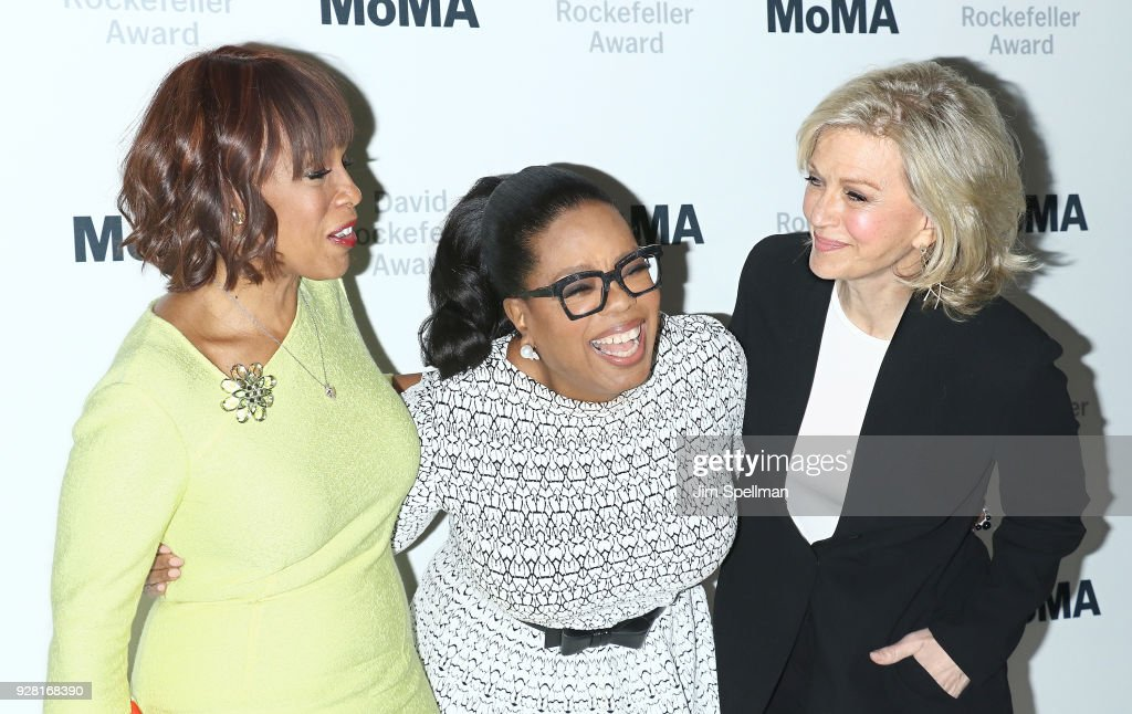 Gayle King, Oprah Winfrey and Diane Sawyer attend the 2018 MoMA David Rockefeller Award Luncheon Honoring Oprah at The Ziegfeld Ballroom on March 6, 2018 in New York City.