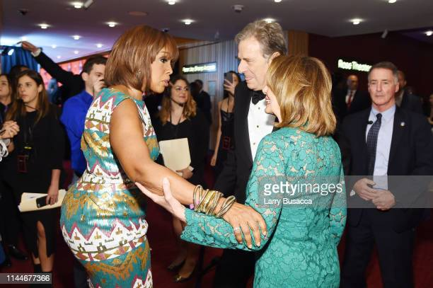 Gayle King Paul Pelosi and Nancy Pelosi attend the TIME 100 Gala 2019 Cocktails at Jazz at Lincoln Center on April 23 2019 in New York City