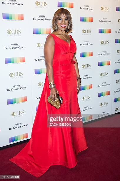Gayle King poses on the red carpet before the 39th Annual Kennedy Center Honors December 4 2019 in Washington DC / AFP / ZACH GIBSON