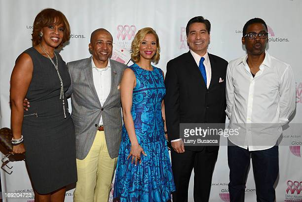 Gayle King Record Executive Kevin Liles Erika Liles News Anchor David Navarro and Chris Rock attend the 2013 Peace Love A Cure Triple Negative Breast...