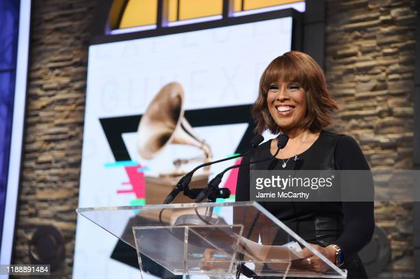 Gayle King speaks at the 62nd Grammy Awards Nominations at CBS Broadcast Center on November 20 2019 in New York City